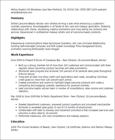 Resume beauty advisor examples: privilegeshavenots.gq